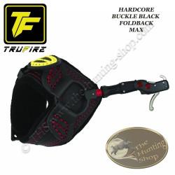 TRU-FIRE Hardcore Black Buckle Foldback MAX décocheur à crochet bracelet noir à boucle pour la chasse et le tir 3D