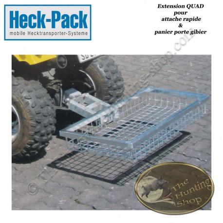 HECK-PACK Extension QUAD pour panier porte gibier avec attache rapide pour boule de remorque