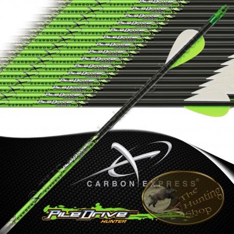 CARBON EXPRESS PileDriver Hunter flèches de chasse et tir 3d empennées