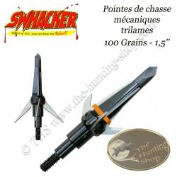 SWHACKER Pointes de chasse mécaniques trilame 100 grains avec pointe d'entrainement practice