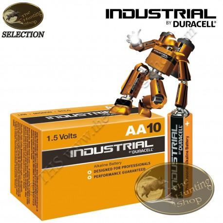 DURACELL Industrial Boite de 10 piles alcalines professionnelles LR6 AA 1.5 volts