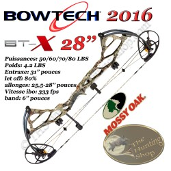 BOWTECH BT-X 28-INCH CAM 2016 Arc compound à poulies Powershift et Micro Sync Dial Technology