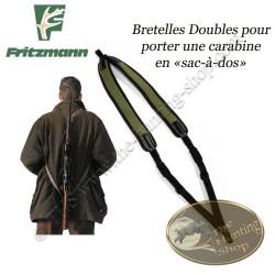 FRITZMANN Bretelle double de carabine port sac à dos