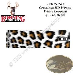 BOHNING Blazer Cresting HD Arrow Wraps 4 ou 7 pouces autocollants pour flèches White Leopard
