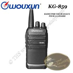 WOUXUN KG-859 Radio PMR portative compacte pour la chasse de type talkie walkie FM VHF