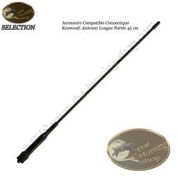 Antenne longue portée 45 cm pour radios de chasse à connectique Kenwood