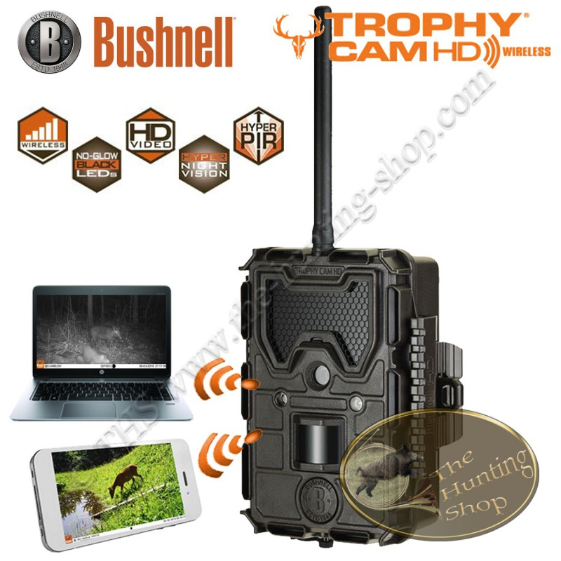 bushnell trophy cam hd wireless cam ra chasse e mail gprs mms 119598. Black Bedroom Furniture Sets. Home Design Ideas