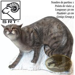 SRT TARGETS Cible 3D Chat Sauvage en mousse pour le tir à l'arc - 08471125