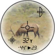 Affichage de la distance réelle en mode arc sur le Bushnell Scout 1000 ARC