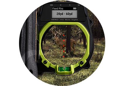 Viseur avec télémètre intégré Garmin Xero 5 pin rouge
