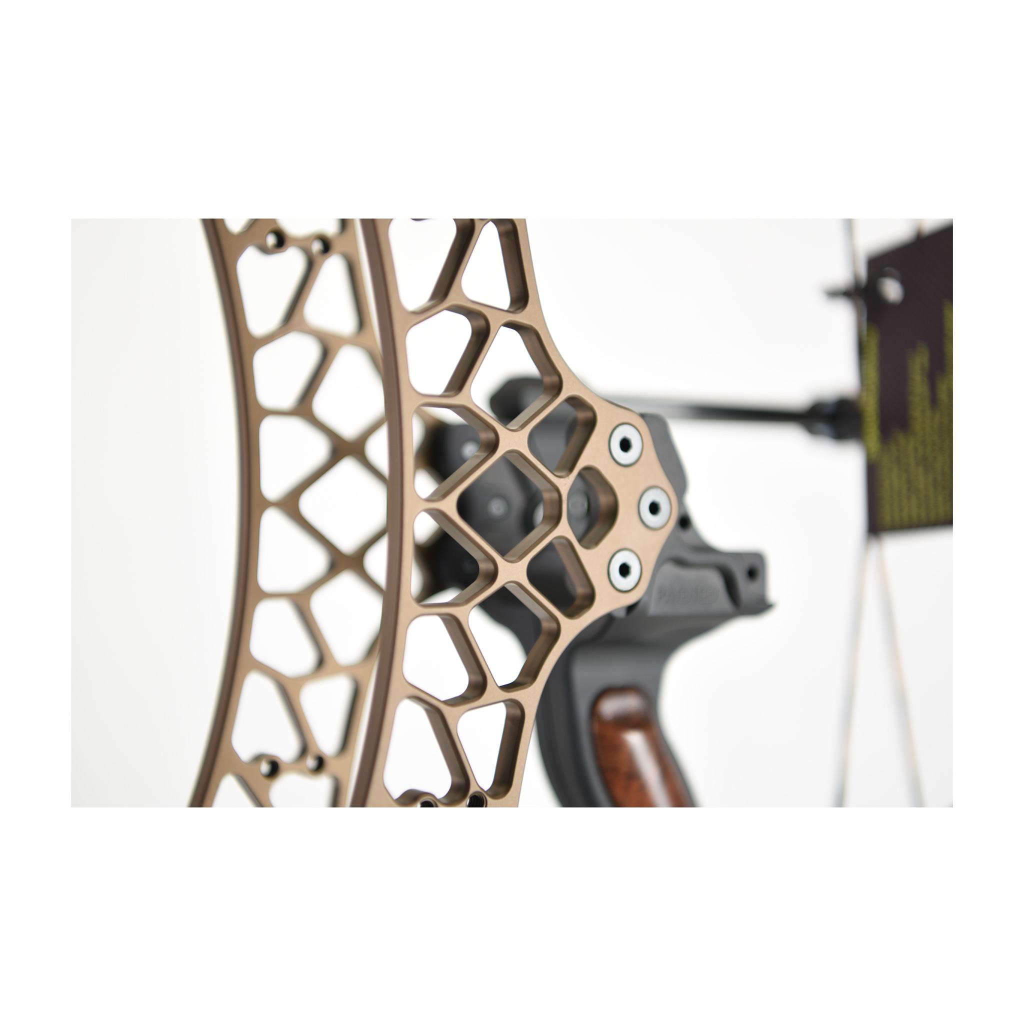 Poignée standard anodisée DESERT de la série PRO ALU de Gearhead Archery