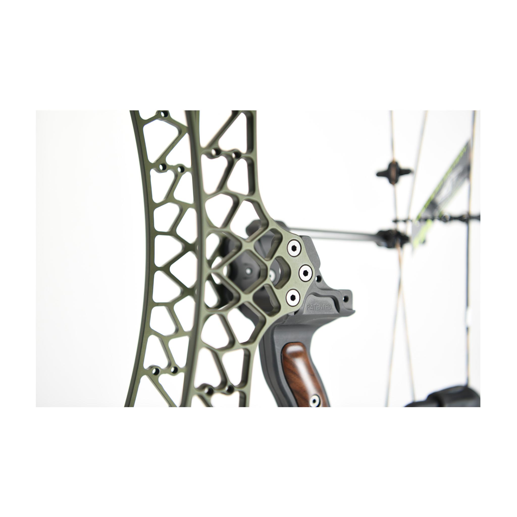 Poignée standard anodisée OLIVE de la série PRO ALU de Gearhead Archery