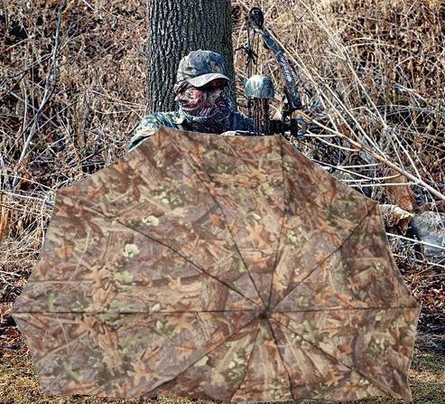 Usage comme paillasson ou blind du parapluie de chasse Hunter's Specialties