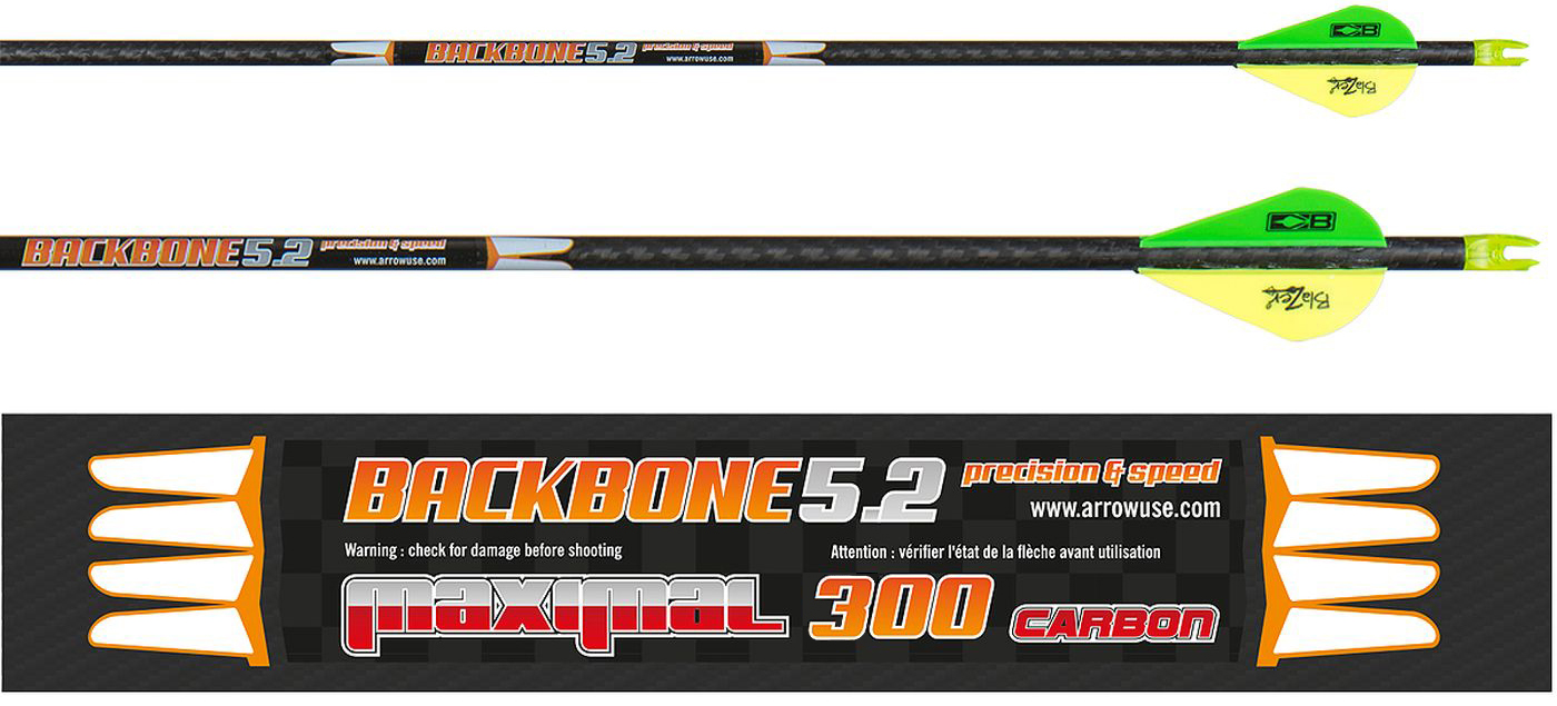 Flèches carbone Maximal Backbone 5.2 chez The Hunting Shop