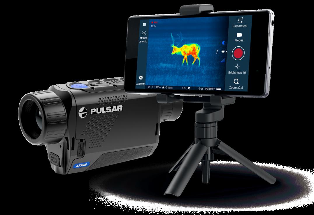 Enregistrement vidéos et photos avec la Pulsar Axion XM30S