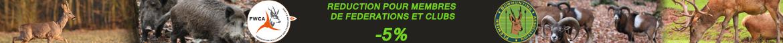 The Hunting Shop Réductions de 5% pour les Fédérations, Clubs et Associations: renseignez-vous...