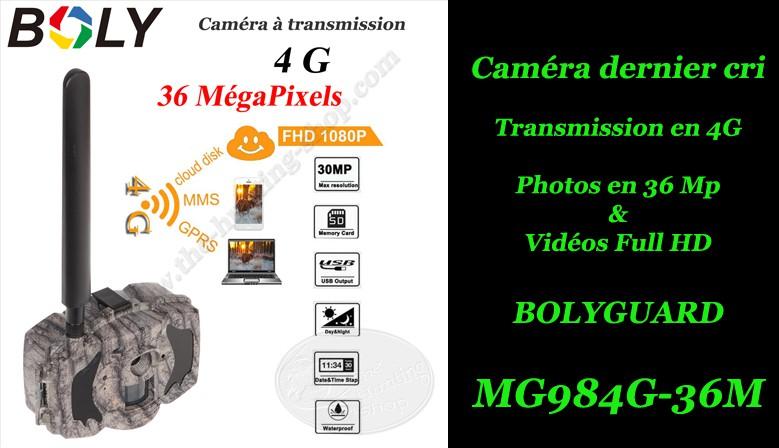Cliquez pour voir la NOUVELLE BOLYGUARD MG984G-36M à transmission des photos et vidéos en 4G