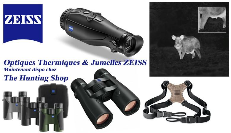Toutes les jumelles ZEISS et les caméras thermiques sont en stock ou commandables avec délai très court chez The Hunting Shop - Renseignez-vous!