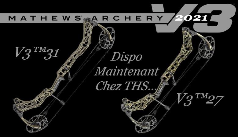 Les nouveaux MATHEWS V3 2021 sont disponibles chez The Hunting Shop, appelez-nous pour les disponibilités...