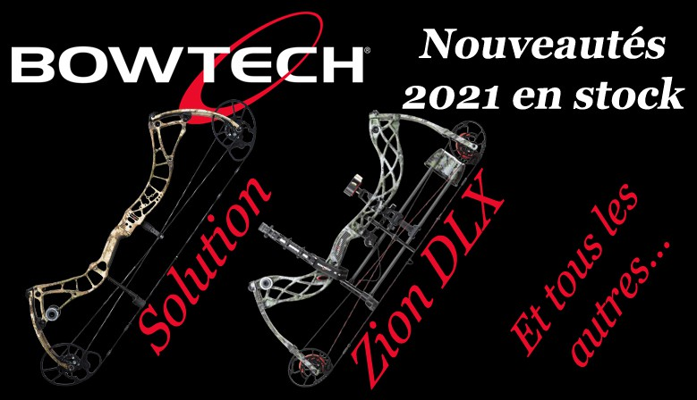 Solution, Zion, Eva Shockey Gen 2, toutes les nouveautés BOWTECH 2021 sont disponibles chez The Hunting Shop